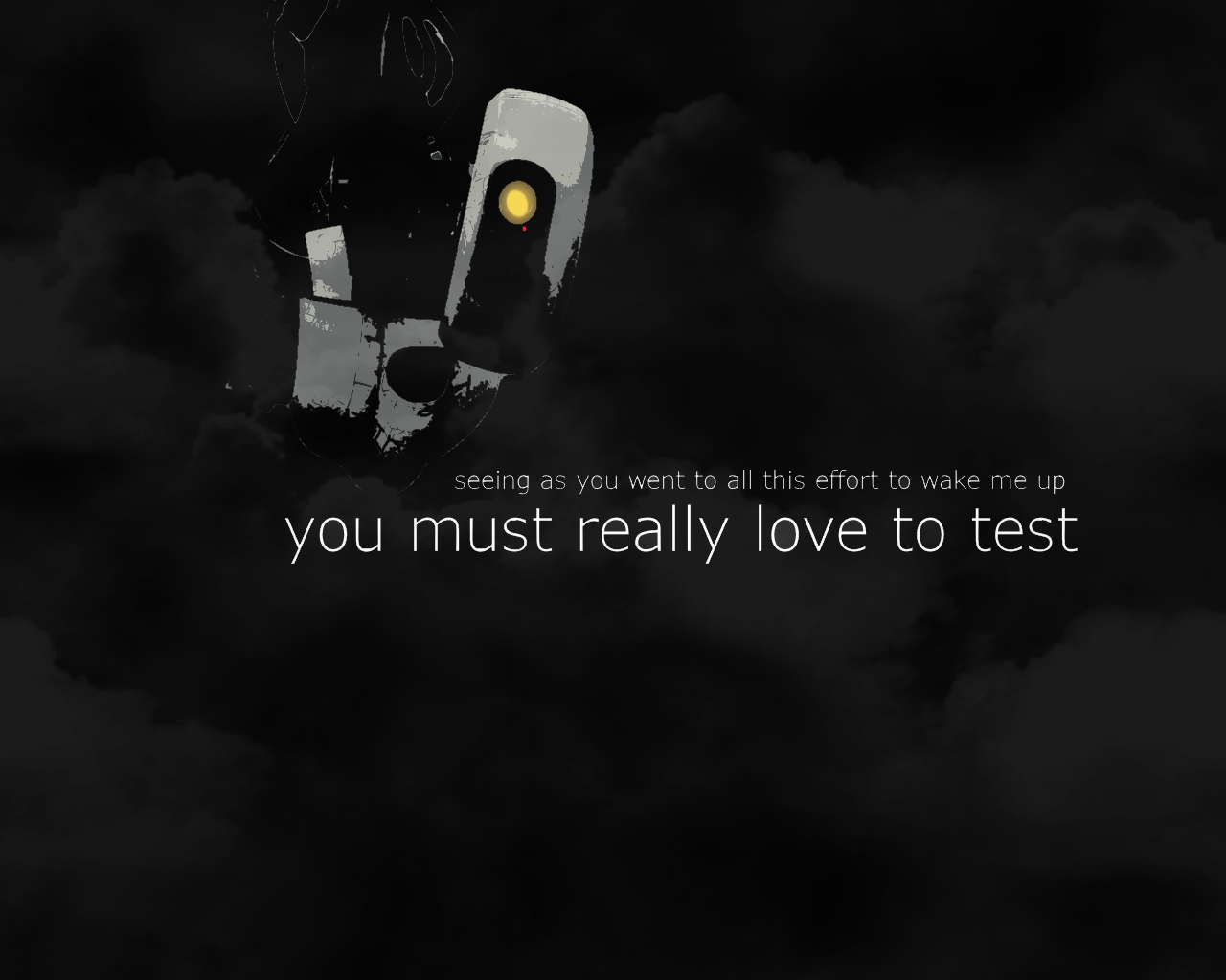 Made A Cool Portal 2 Wallpaper Yesterday Thought You Guys Might Like It Portal 2 Portal Wallpaper