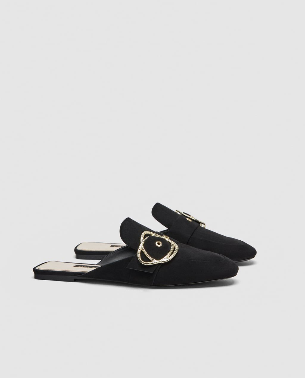 5d31c8c8987a5 Image 4 of FLAT MULES WITH BUCKLE DETAIL from Zara | Shoe.... GaLore ...