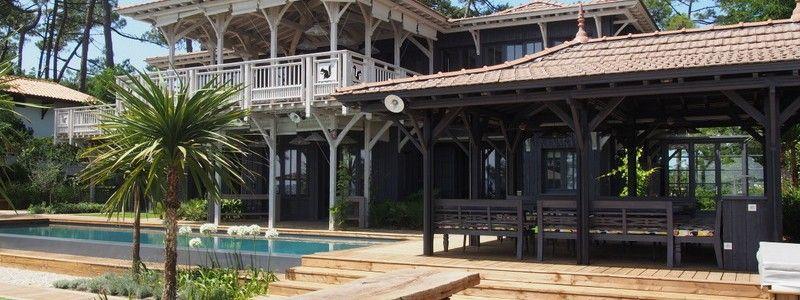 Projet E \u2013 Maison Bois Lège Cap-Ferret Cap ferret Pinterest - location maison cap ferret avec piscine