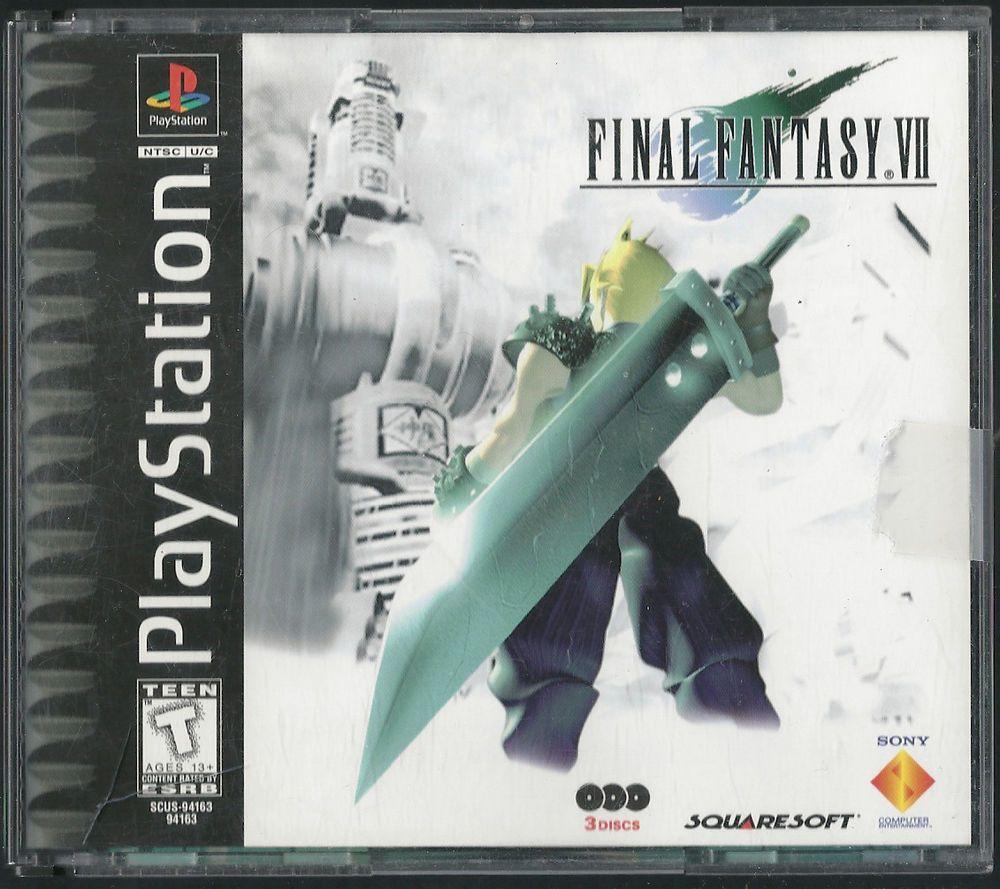 Final Fantasy Ps1 Cover Art