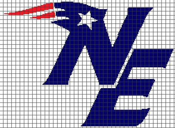 New England Patriots Crochet Graphghan Pattern Chartgraph And Row