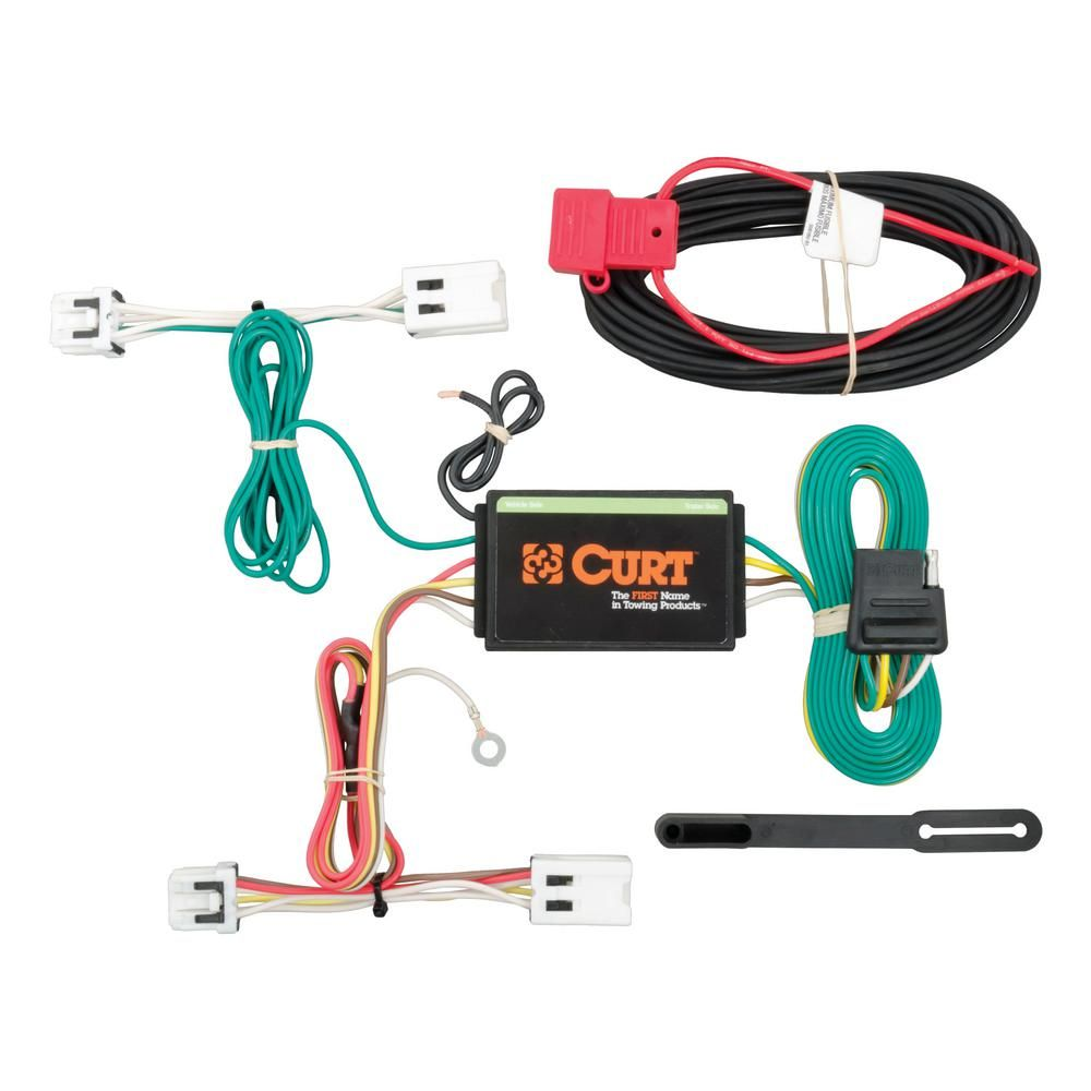 curt custom wiring harness 4 way flat output  [ 1000 x 1000 Pixel ]