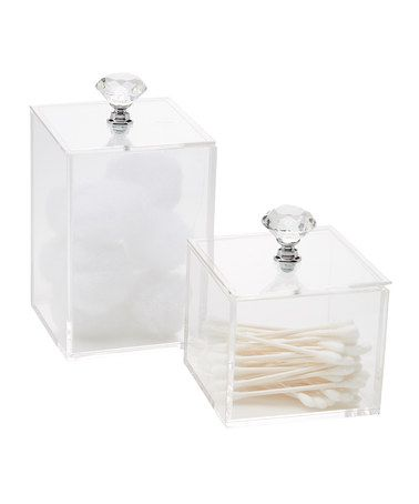 Bathroom Canister Set Delectable Look At This #zulilyfind Twopiece Bathroom Canister Set Review