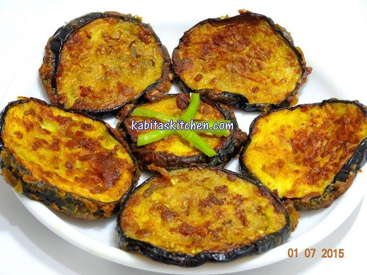 Kabitas kitchen baingan fry recipe eggplant fry begun bhaja food forumfinder Gallery