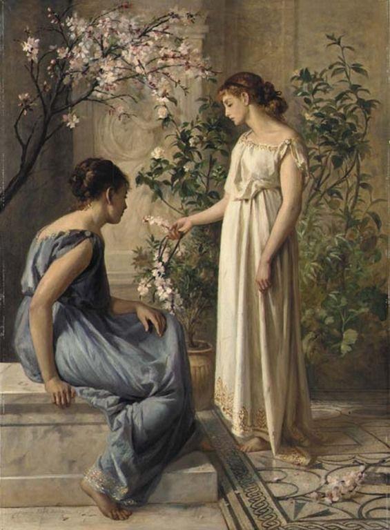 Spring_Blossoms-henry-thomas-schaffer (french-1873-1915)