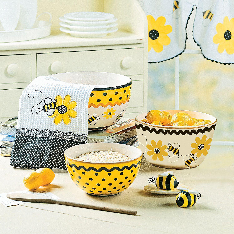 Bee decorator for kitchen in 2019 yellow kitchen decor - Kitchen decor theme ideas ...