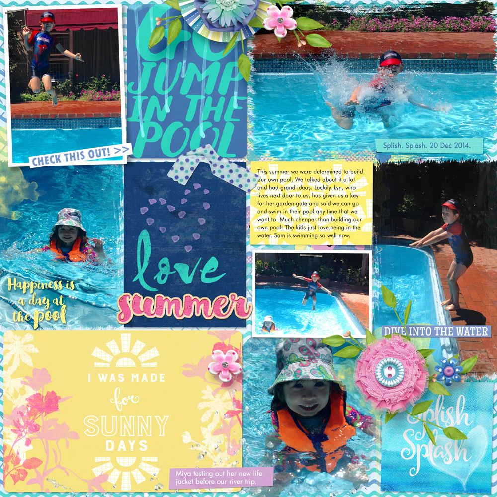 My arty pockets by heartstrings scrap art pool party by wendyp