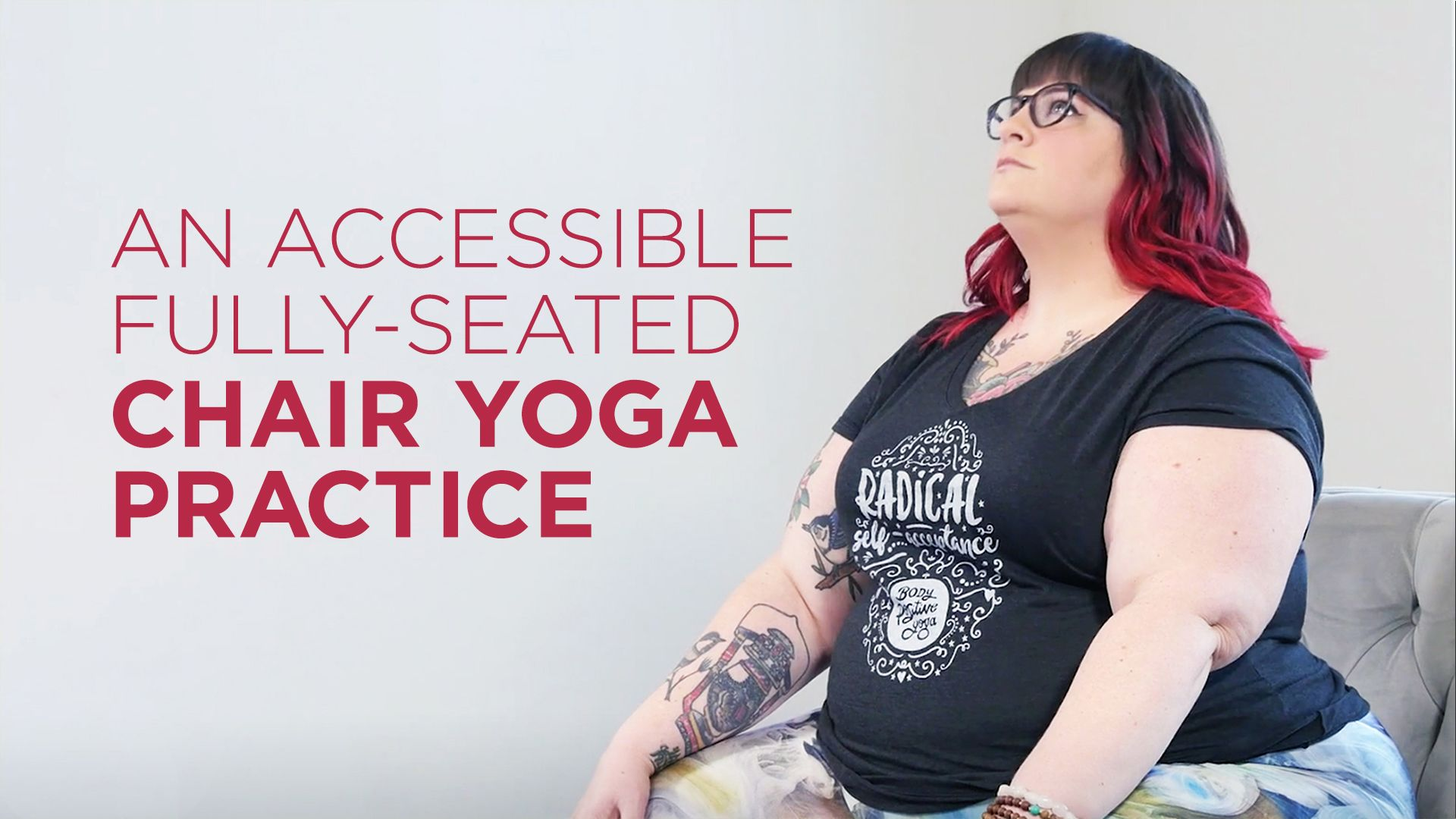 An Accessible, Fully Seated Chair Yoga Practice Chair
