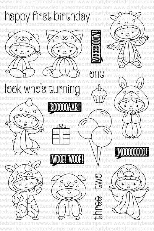 Clearly Besotted All In Onesie Clear Stamp Zoom Image Desenhos