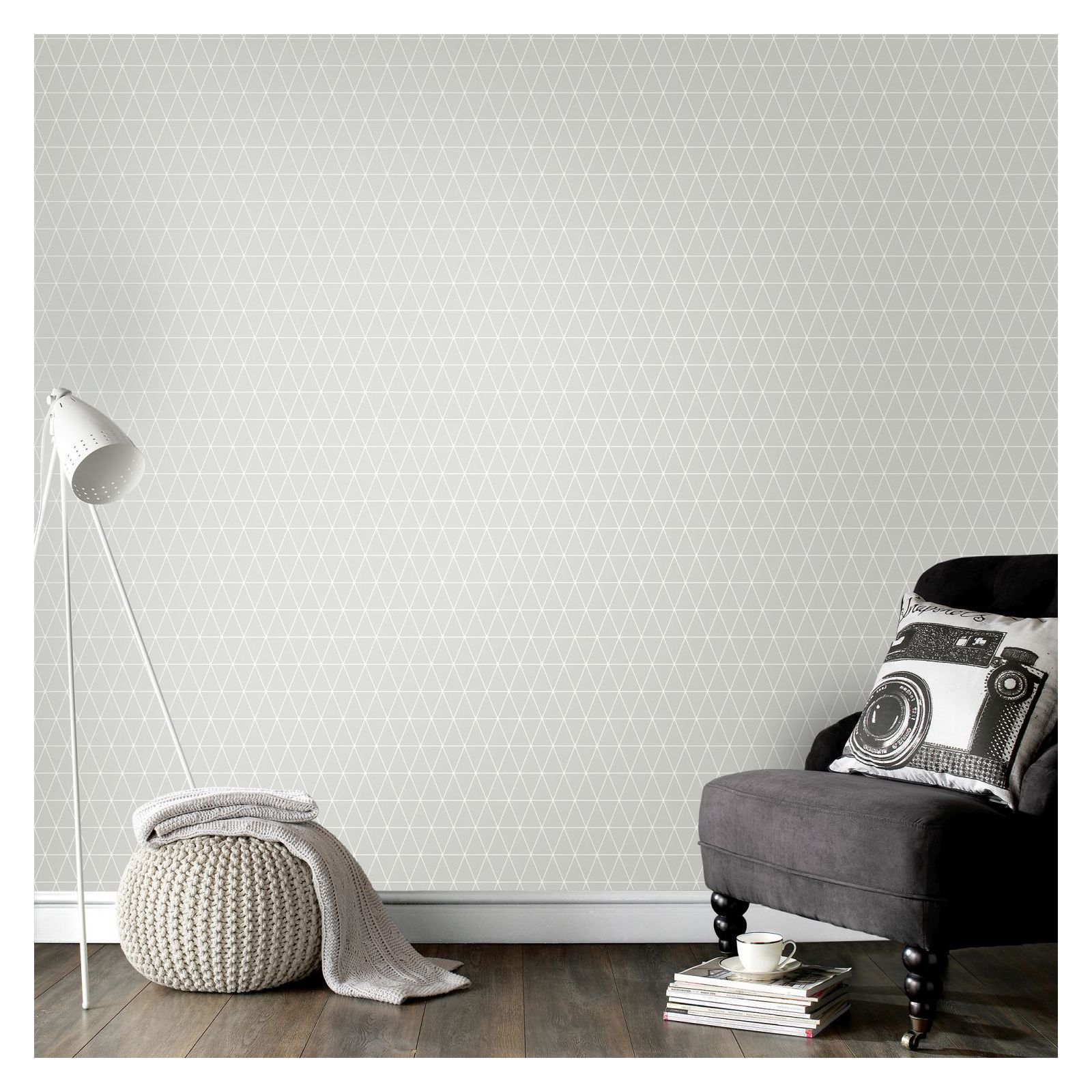 Superfresco Easy Paste the Wall Triangolin Gris Wallpaper