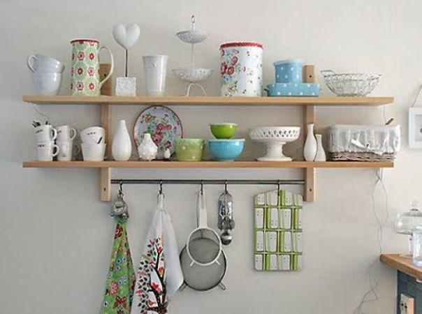 Dekoratif Mutfak Rafı Modelleri Mutfak Wall Shelves