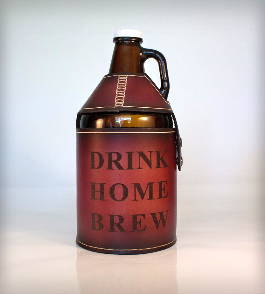 Leather Beer Growler Cover Pedal Happy Gifts For Beer Lovers Beer Growler Beer