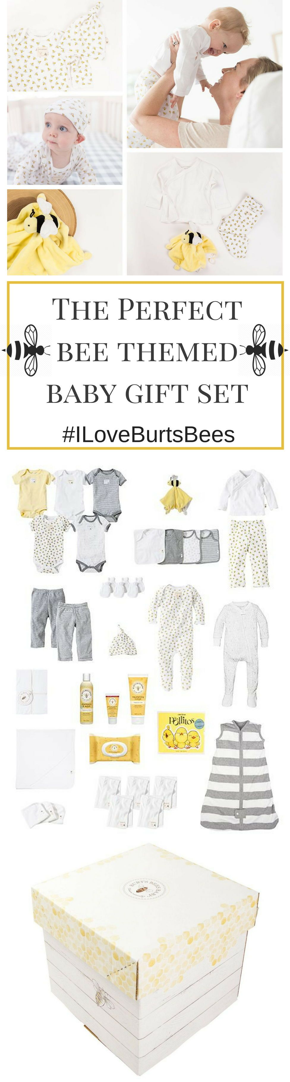 ad43693129ad Love this baby shower gift box set from Burts Bees!  BeeBabyShower ...