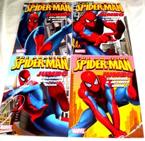 Lot 4 Amazing Spiderman Jumbo Coloring Activity Book By Coloring Books 8 99 Great Gifts For Kids Spiderman Coloring Coloring Books Superman Coloring Pages