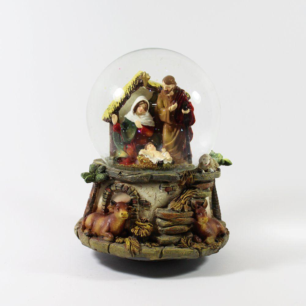 Natal / Globos de neve - Bola de Neve com Sagrada Família – Bau da Cravus