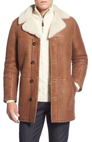 Andrew Marc 'Gloucester' Genuine Shearling Car Coat available at ...