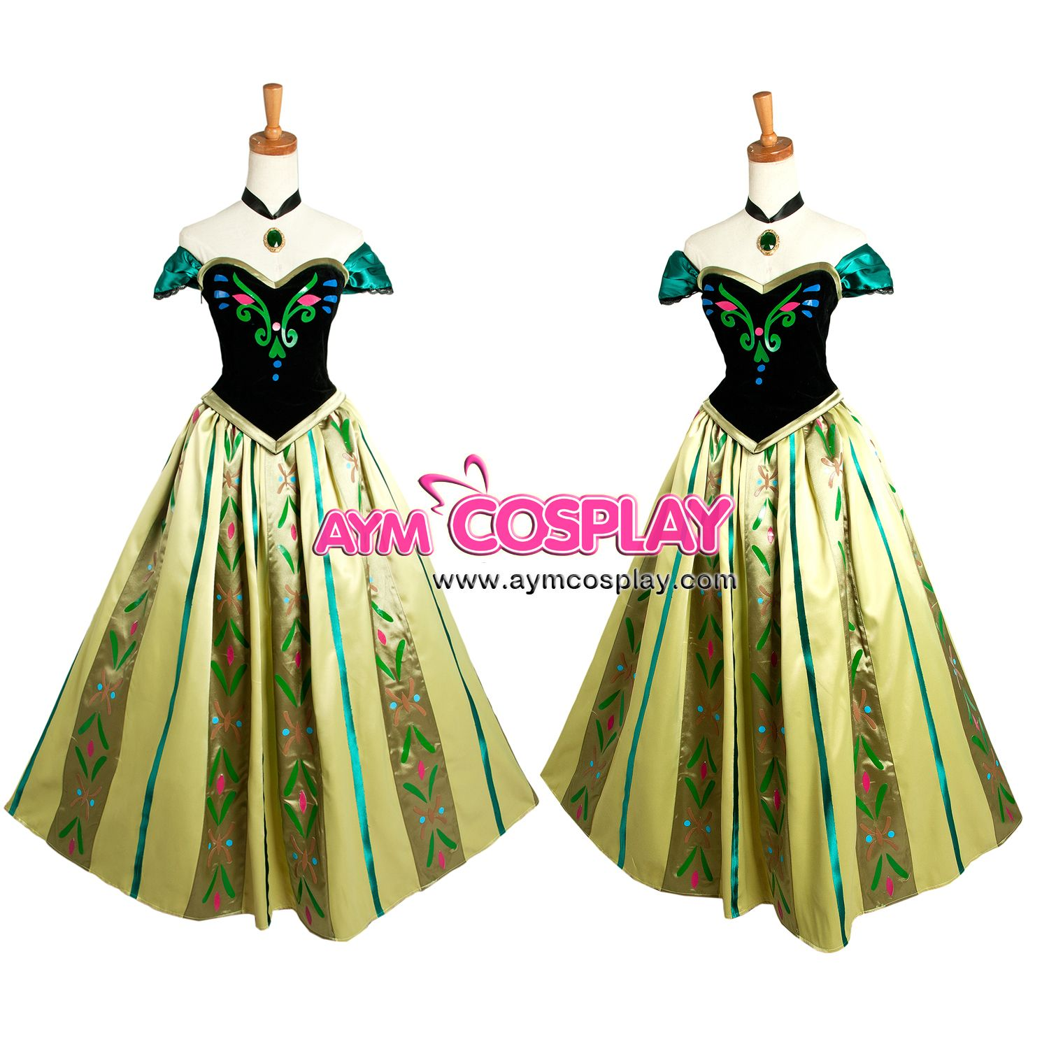 Disney Movie Frozen Anna coronation dress costume cosplay ...