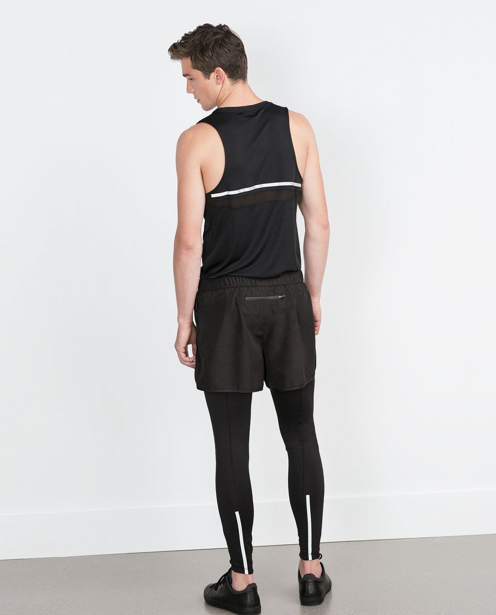 Image 1 Of Shorts With Long Interior Leggings From Zara