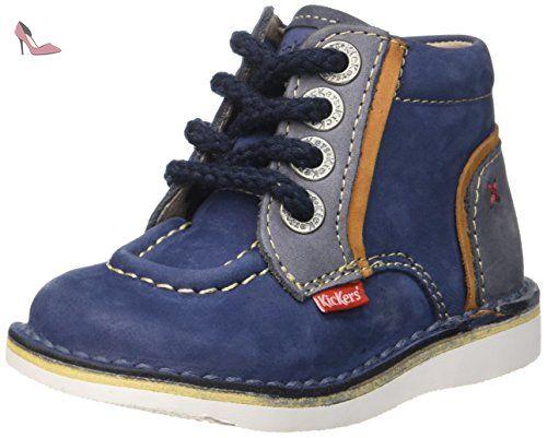 Kickers Walla, Chaussures Premiers Pas Bébé Garçon, Bleu