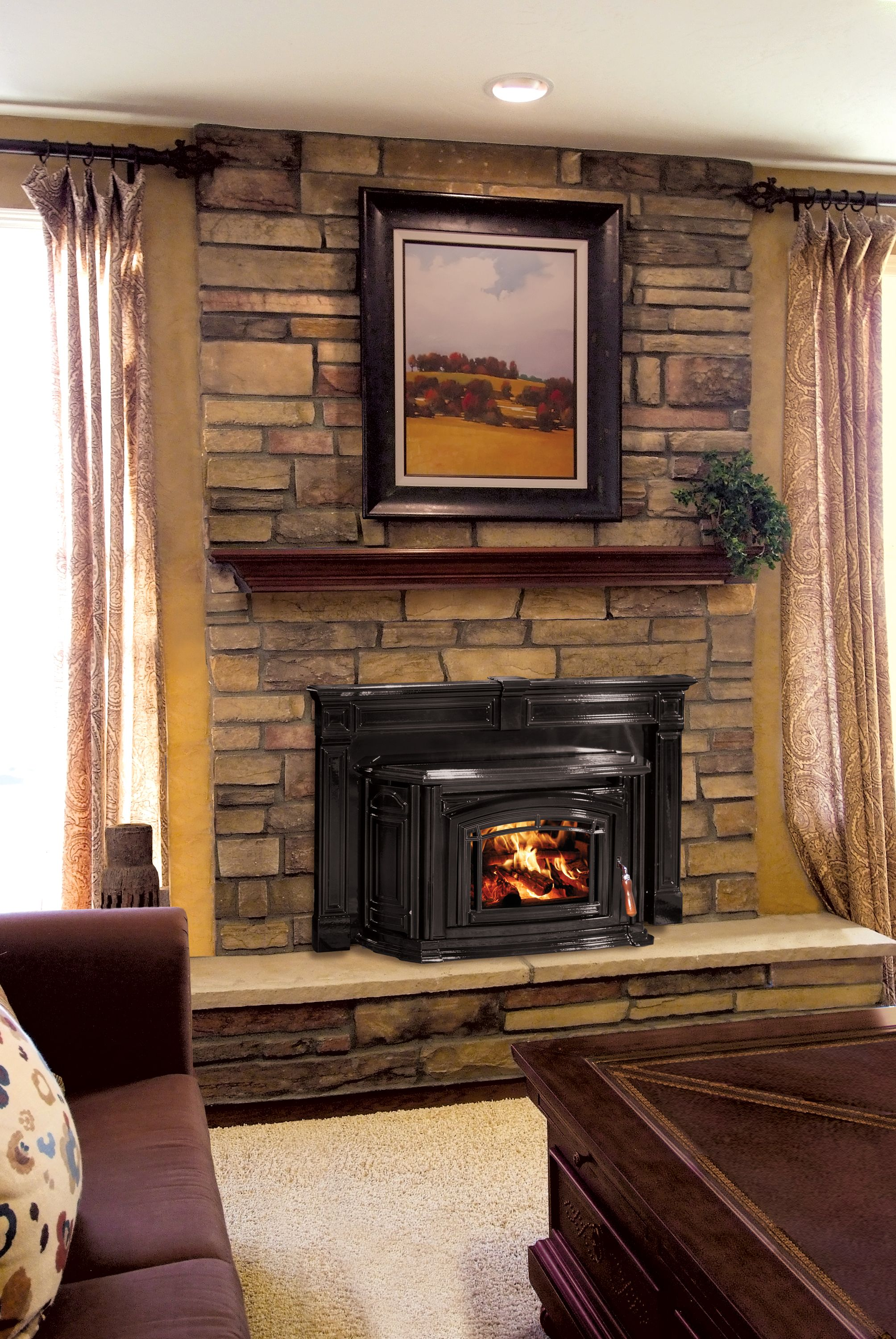 watch stove fireplace inserts a fire youtube insert wood your atlanta how in to burning start