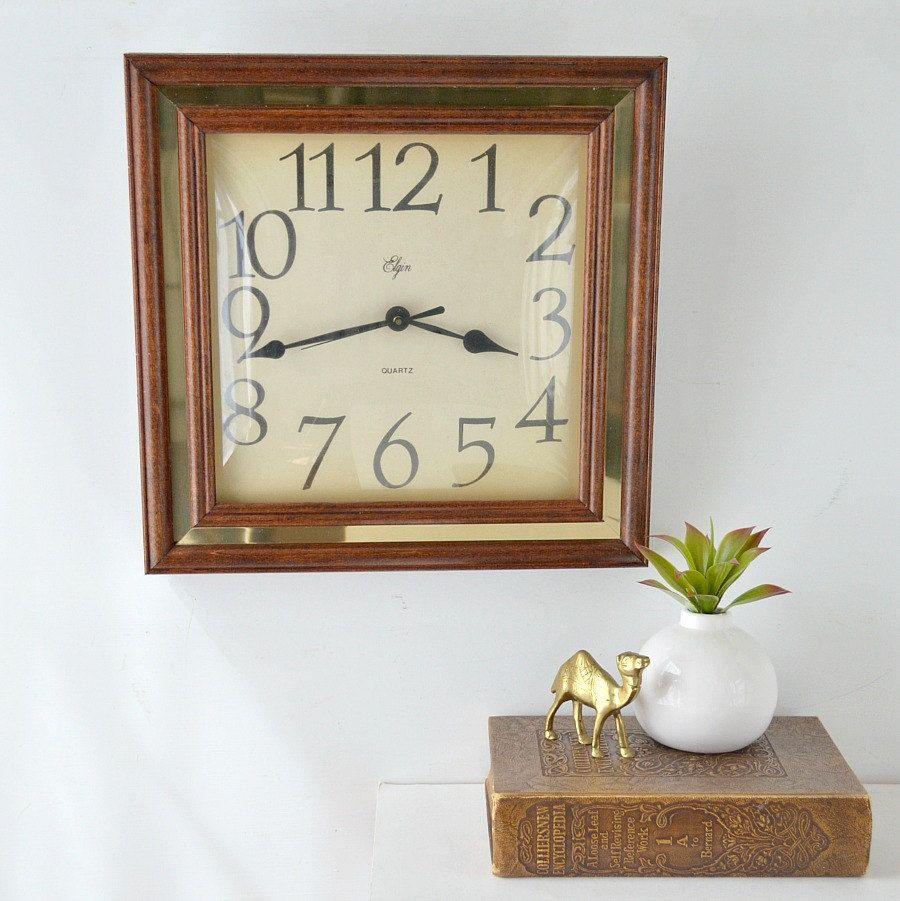 Vintage Elgin Wall Clock Mid Century Wall Clock Working Mid Century Wall Clock Wall Clock Clock