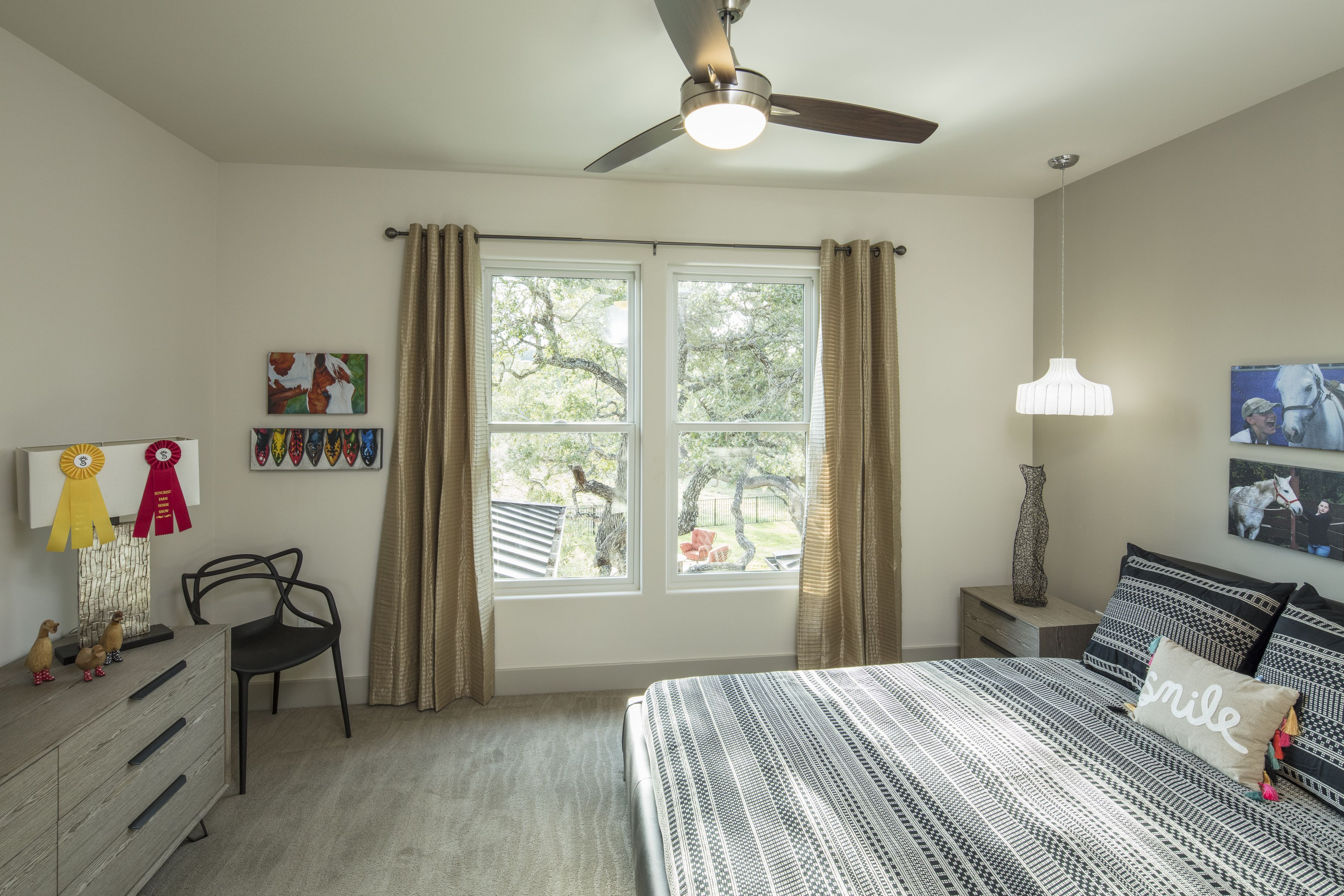 Modern Guest Bedroom At Caliterra Living In Dripping Springs, Tx