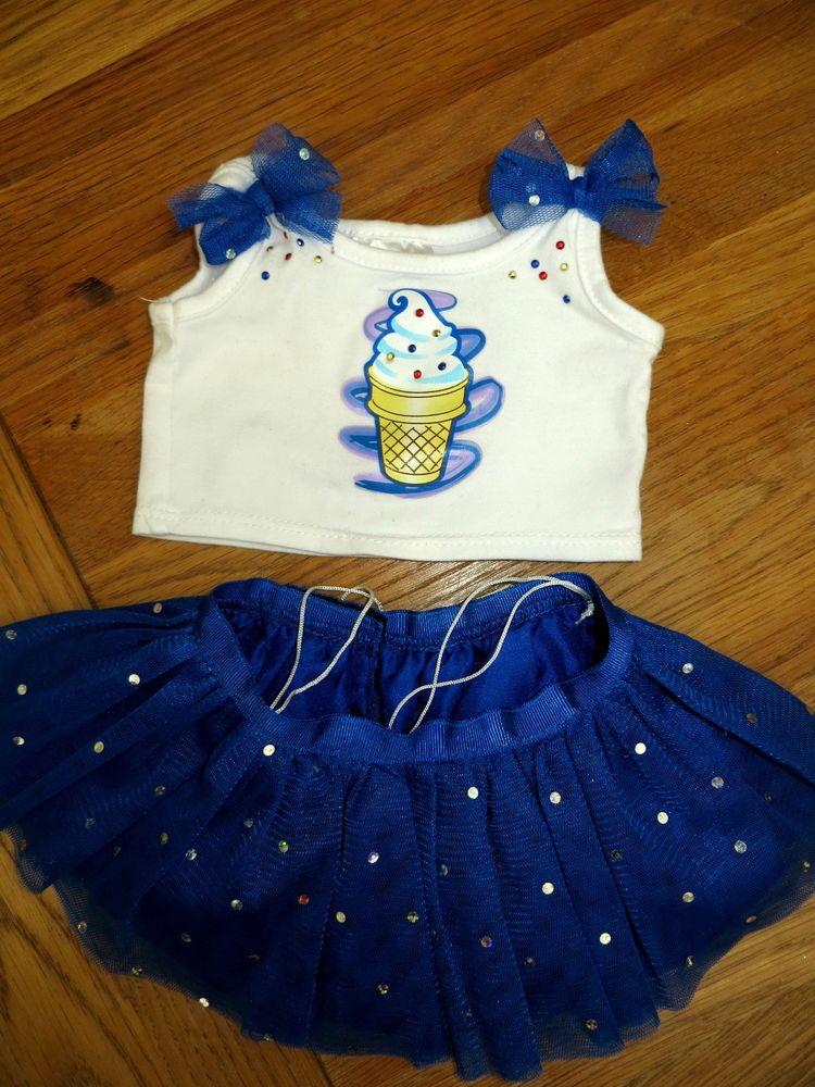 Build A Bear Clothes Blizzard Dairy Queen Ice Cream Blue