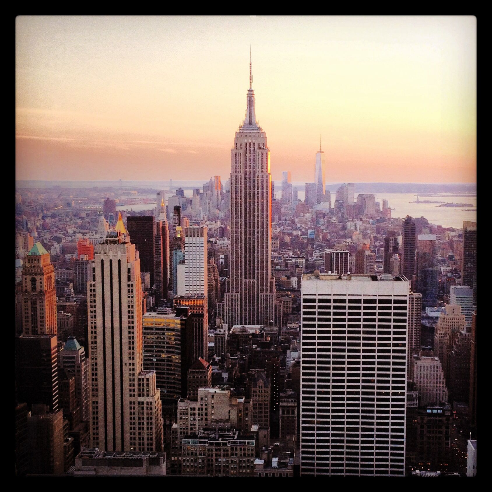 New York, empire state building. View from rockefeller.