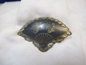 The classic fan Siam Silver Brooch
