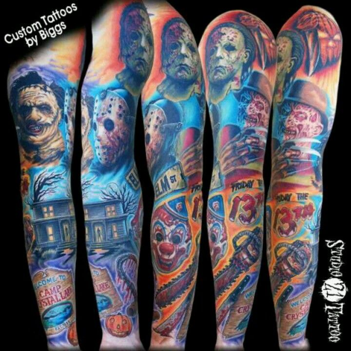 I Want A Horror Movie Themed Half Sleeve Sooo Bad Movie Tattoos
