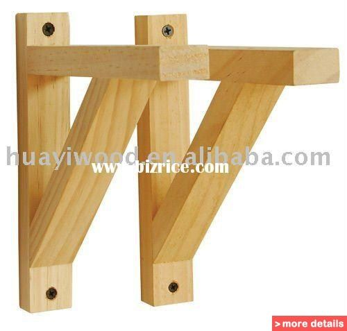 Wood shelf support brackets wooden floating shelf wood for How to make wood shelves on wall