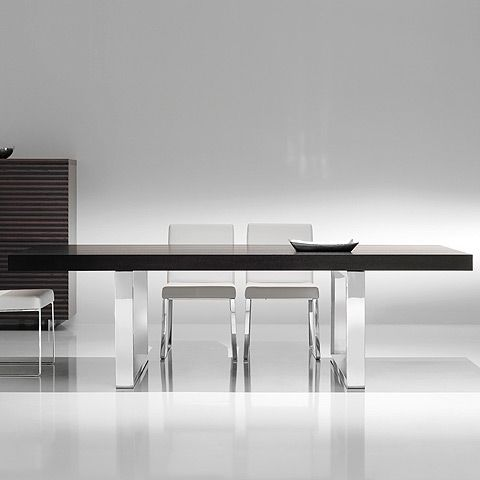 Palermo Dining Table At Www.moderndigsfurniture.com, Chromed Steel  Rectangular Legs And A