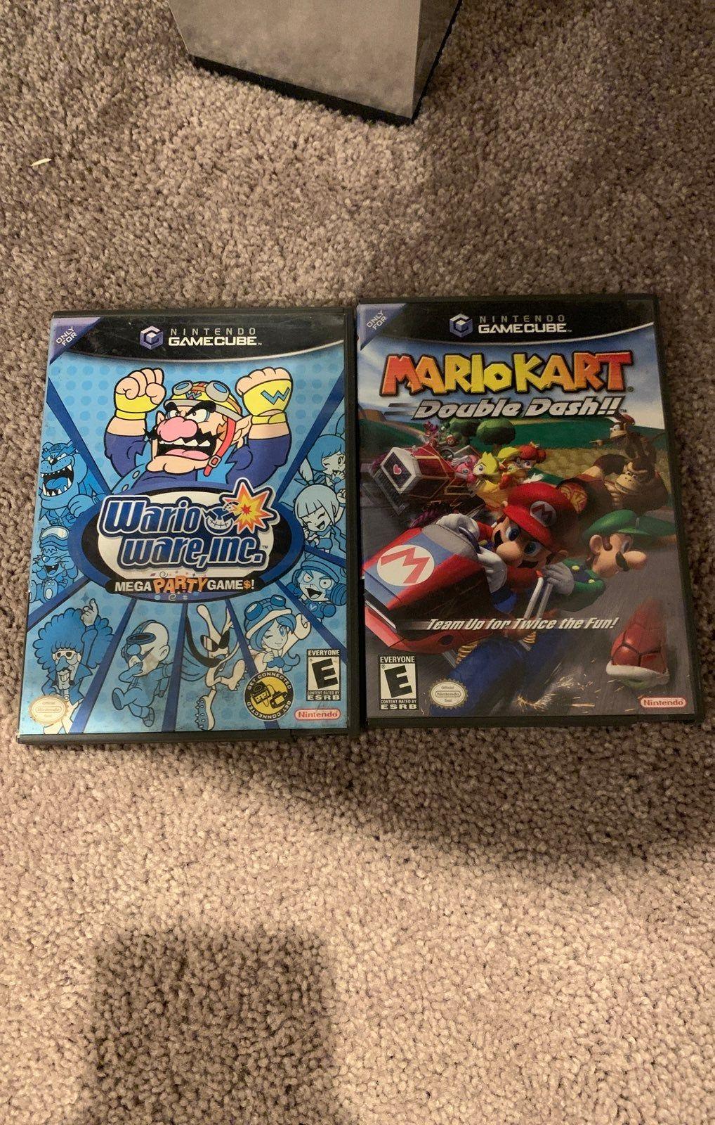 Mario Bundle Gamecube Work Perfectly Warioware Inc Mario Kart Double Dash Gamecube Game Bundle Mario Games