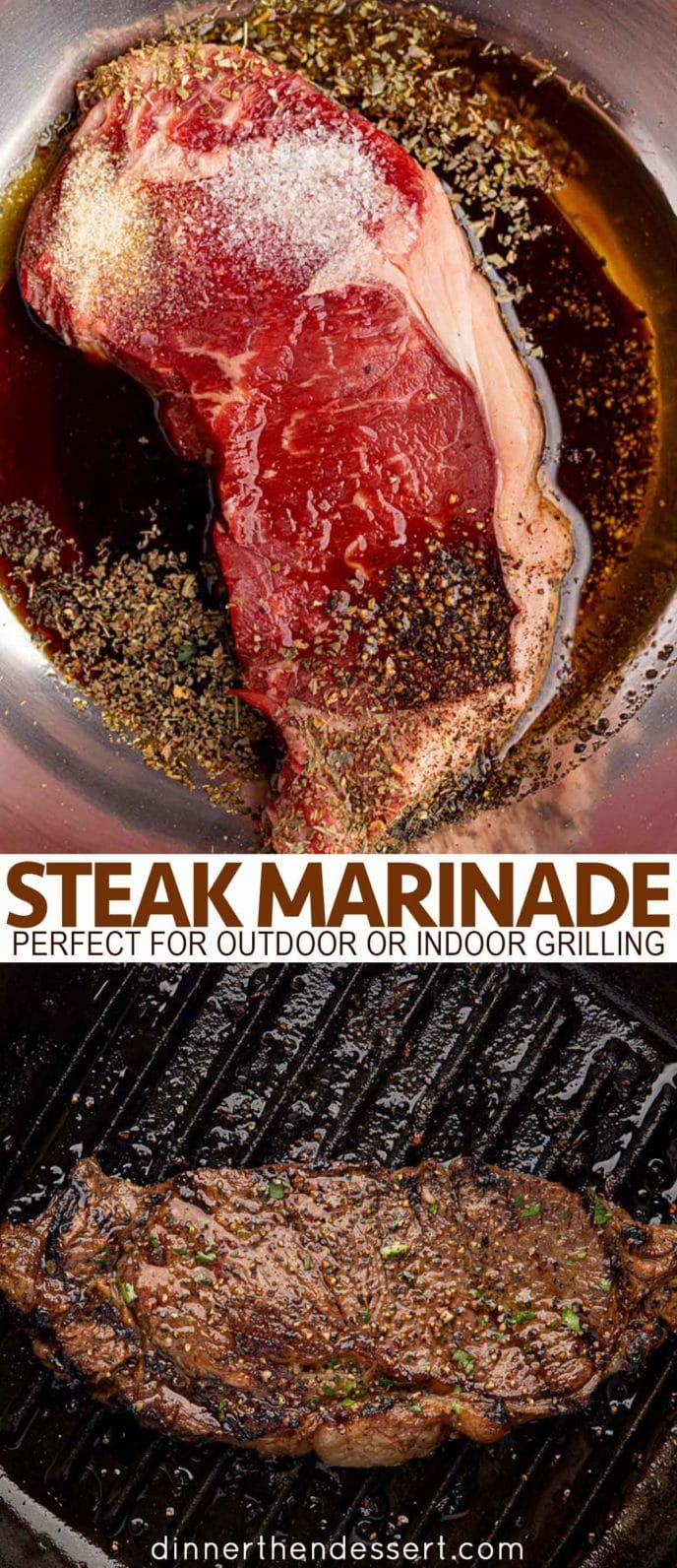 The BEST Ever Steak Marinade - Dinner, then Dessert