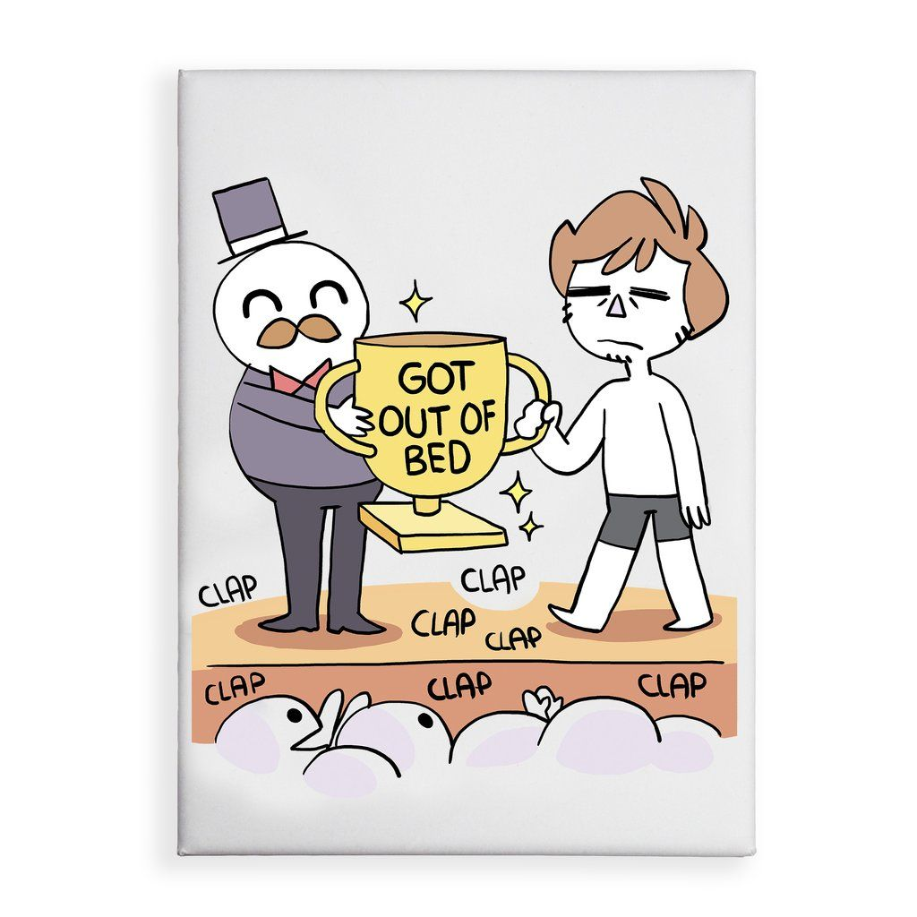 Got Out Of Bed Magnet Getting Out Of Bed Funny Cartoon