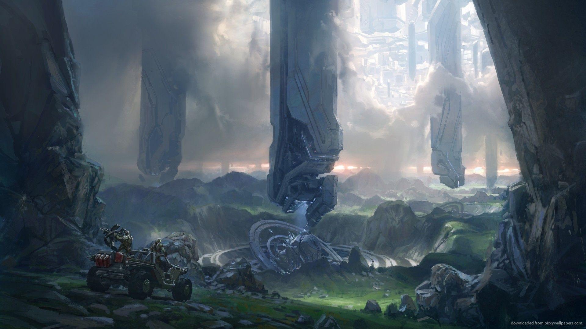 Halo 4 Concept Art Wallpaper Sci Fi Concept Art Environment Concept Art Game Concept Art