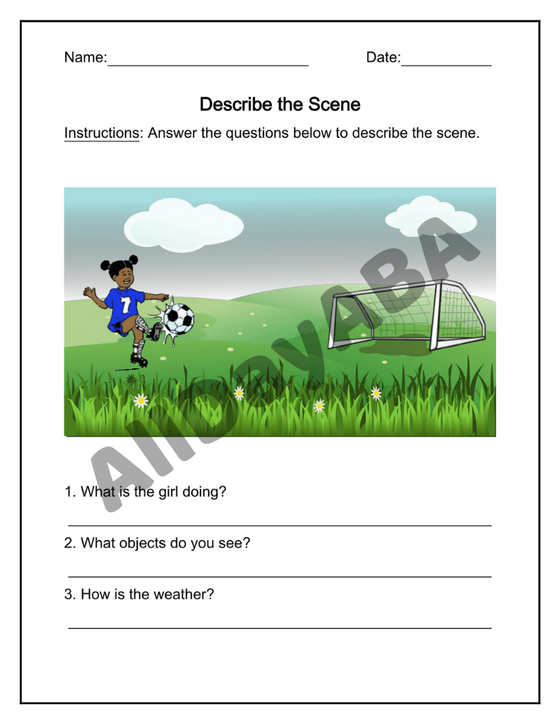 Describe the Scene - Descriptions, Features, Habitats - Set 1 - by