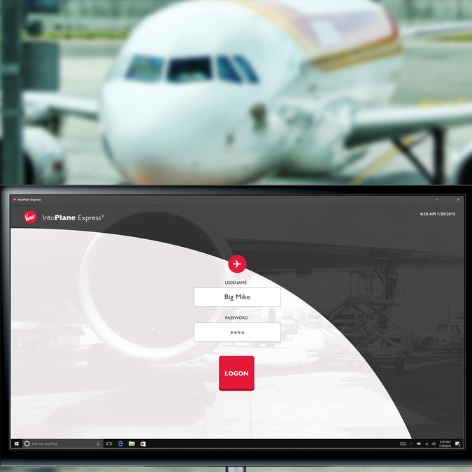 Design web pages for IntoPlane Express kiosk