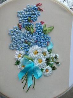 Bordado En Cinta Google Search Silk Ribbon Embroidery Tutorial Ribbon Embroidery Tutorial Embroidery Flowers Pattern