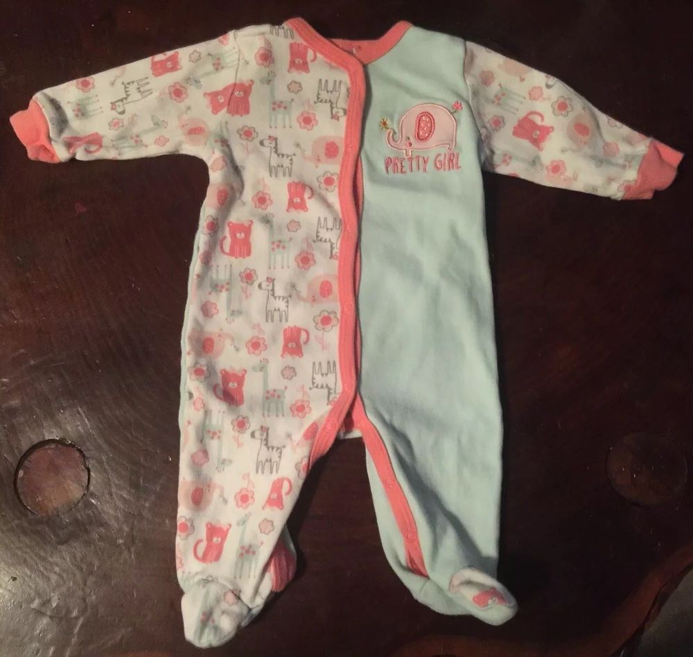 Baby Girl Clothes Size 0 3 Months Elephant Pretty Girl Winter Outfit Footies Fashion Clothing Cheap Baby Girl Clothes Girls Winter Outfits Baby Girl Clothes