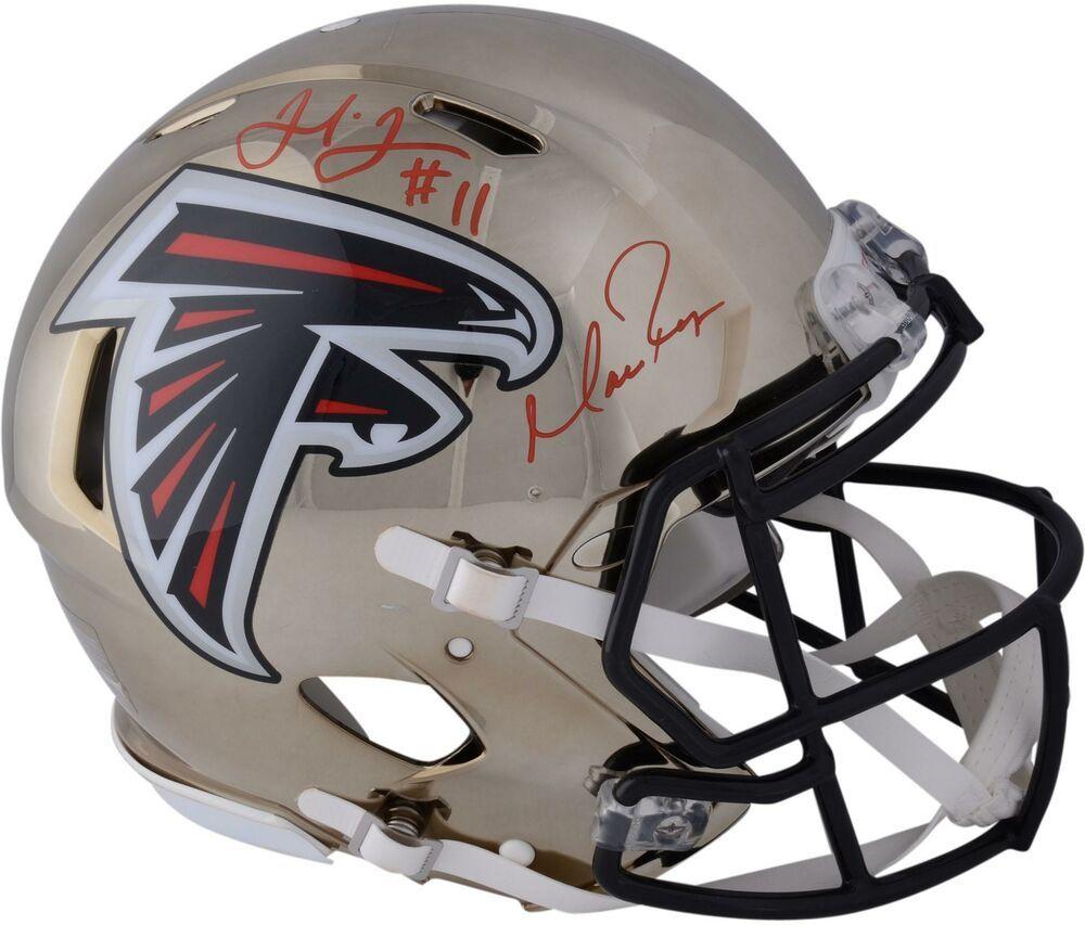 Matt Ryan Julio Jones Atlanta Falcons Signed Chrome Alternate Authentic Helmet Football Helmets Atlanta Falcons Signs Helmet