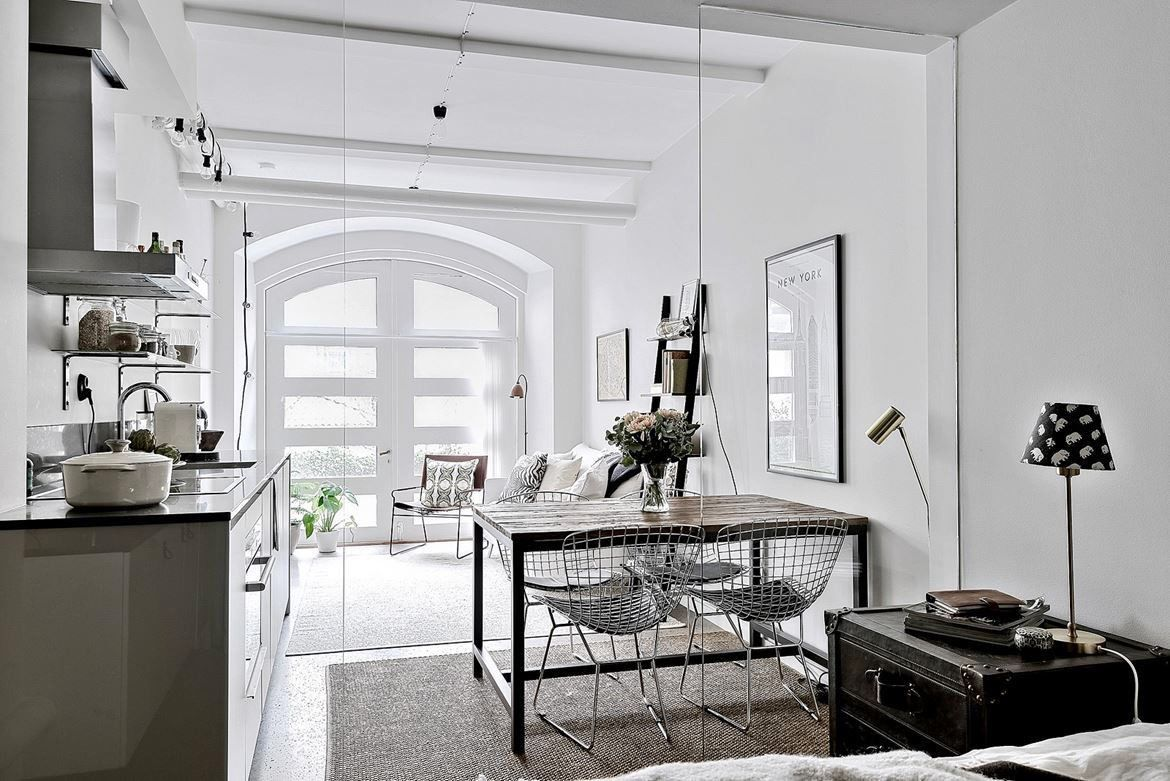 Beautiful Image Of Chic Studio Apartments Apartment Divides E With Glass Parion Smalles