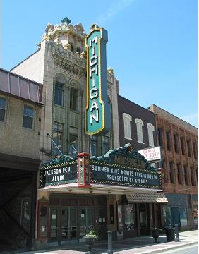 Exterior, Michigan Theater, Jackson, MI Michigan fun