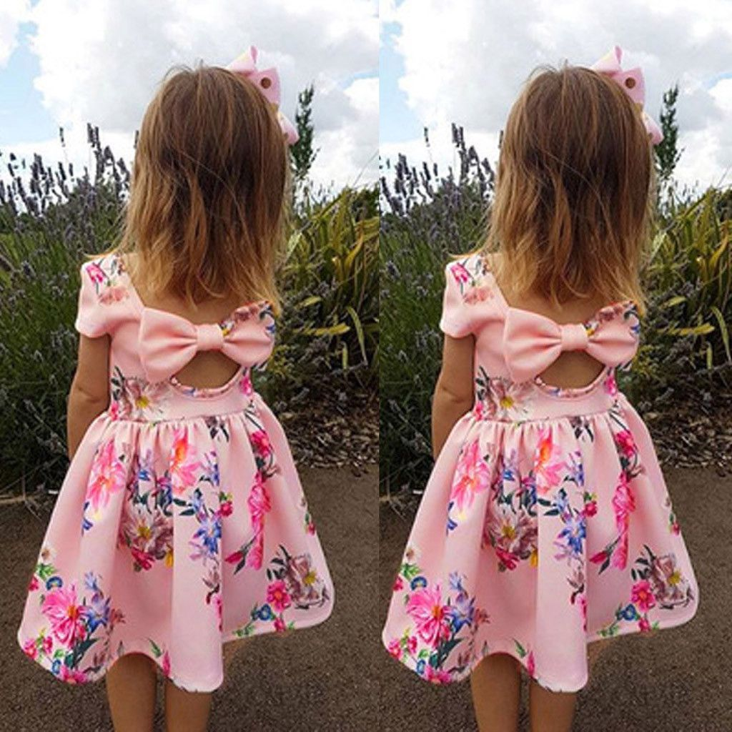 Summer Toddler Kids Baby Girls Floral Dress Princess Party Pageant Tutu Dresses
