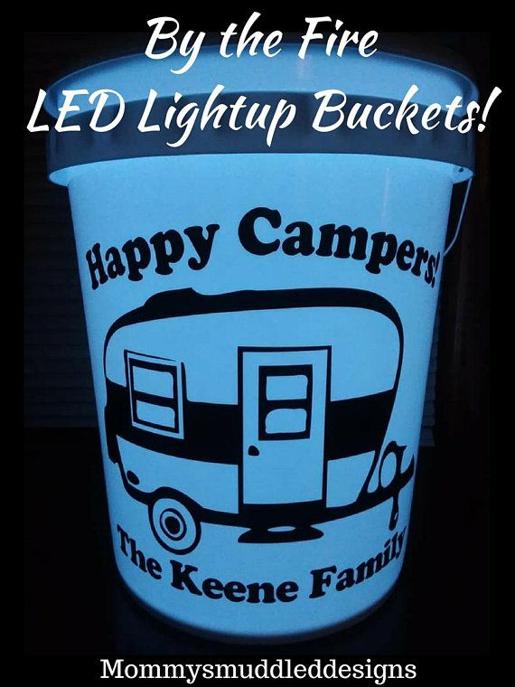 By The Fire Led Light Up Bucket Campfire Light Up Bucket