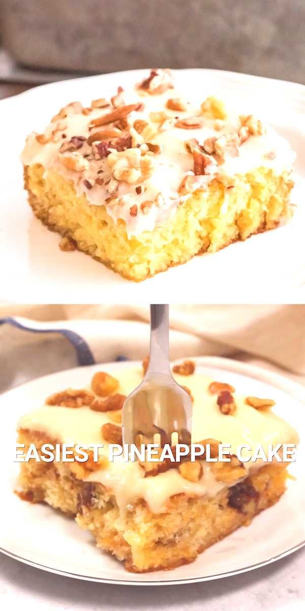 #pineapple #homemade #easiest #without #dessert #wonder #butter #batter #bowl #cake #made #one #oil #the #is EASIEST PINEAPPLE CAKE Easie...