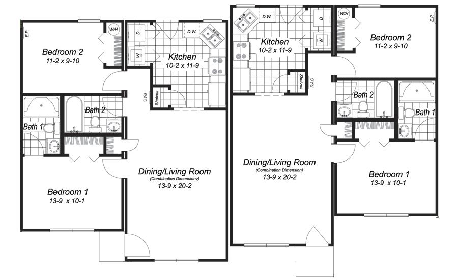 superior modular duplex house plans #5: Wausau Homes Sample Floor Plans