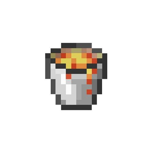 "Minecraft Lava Bucket Decal - 4"" Tall"
