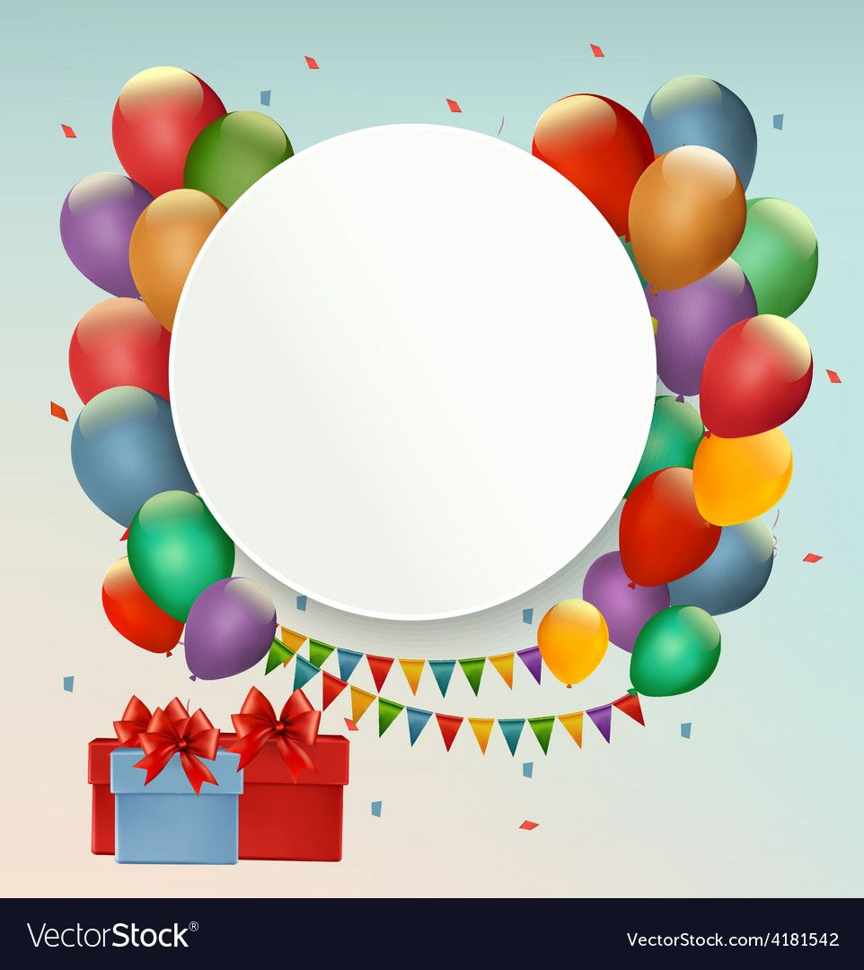 Happy Birthday Background With Balloons And Presents Download A Free Preview Or High Q Birthday Background Birthday Background Images Happy Birthday Wallpaper