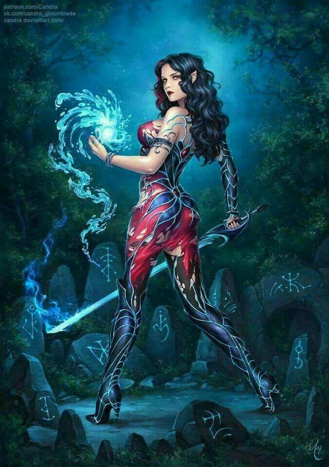 Pingl par troll75 sur female fantasy pinterest for Art conceptuel peinture